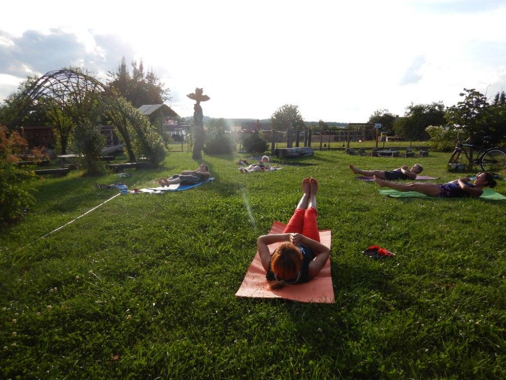 Prázdninové cvičení jógy s Danielou 4