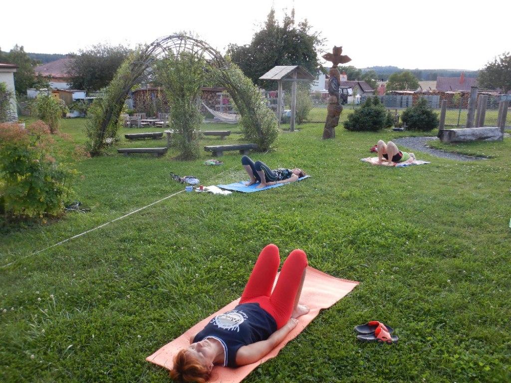 Prázdninové cvičení jógy s Danielou 17